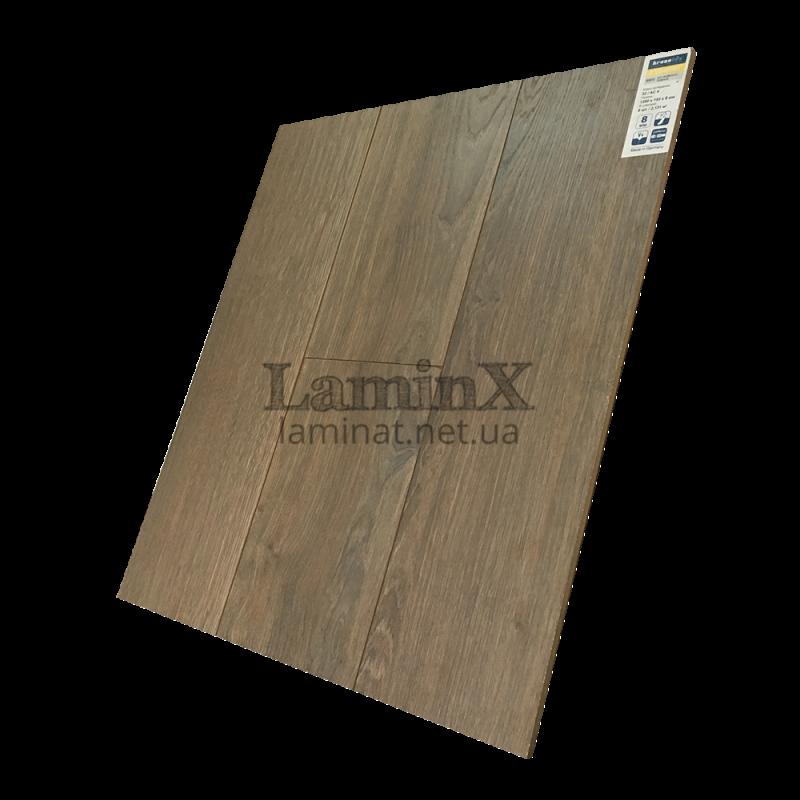 Ламинат Kronotex Exquisit Дуб Вейвлесс Тёмный D3072
