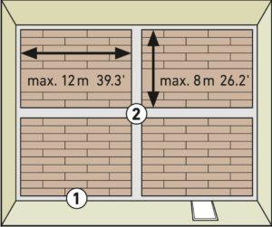 схема помещения - укладка ламината