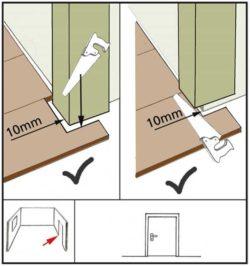 укладка ламината возле дверной коробки