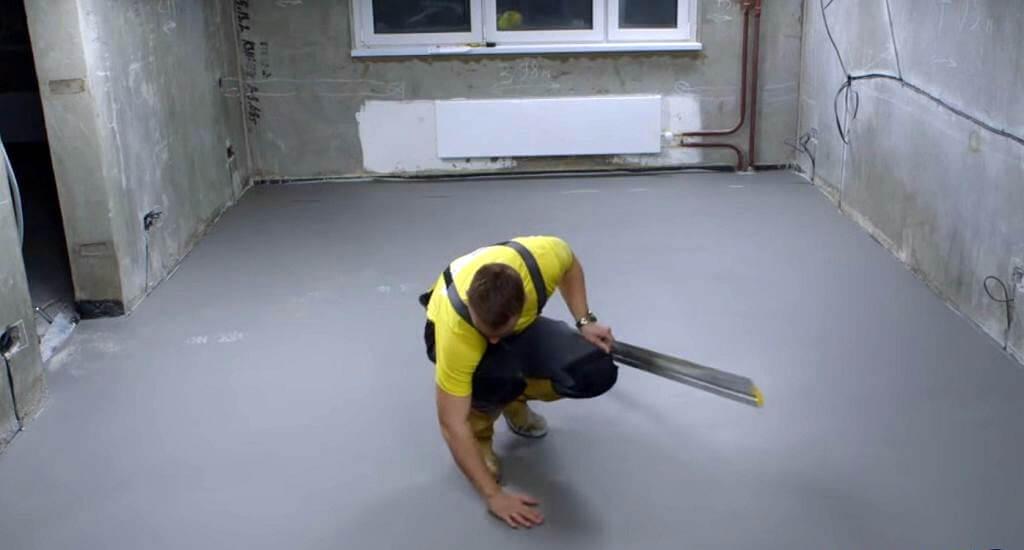 выравнивание бетонного пола под ламинат